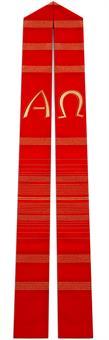 Langstola, rot mit A/Ω
