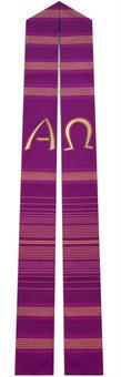 Langstola, violett mit A/Ω