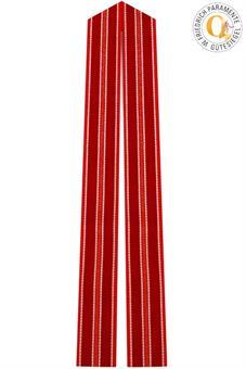Langstola, Wollmischgewebe, rot
