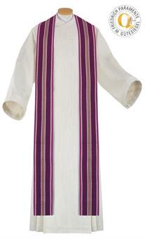 Langstola, violett, Wollmischgewebe