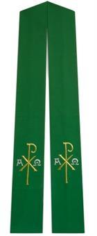 Langstola, grün mit PX/AΩ