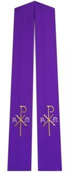 Langstola, violett mit PX/AΩ