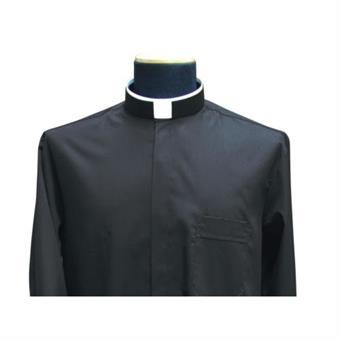 """Collarhemd """"Römischer Kragen"""", schwarz Größe 38"""