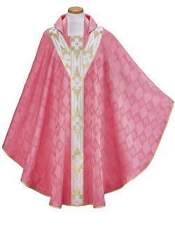 Kasel aus Kunstfasergewebe, rosa