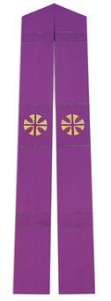 Langstola, violett mit Sonnenkreuz