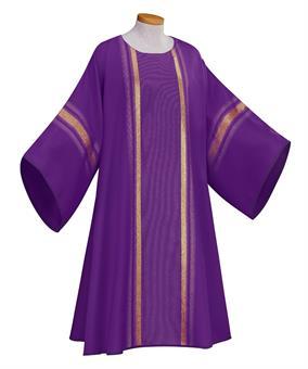 Dalmatik, violett mit Innenstola