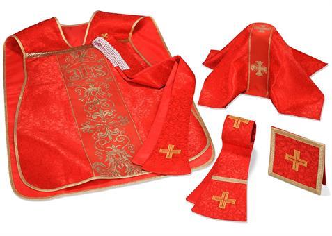 Römische Kasel Set, rot