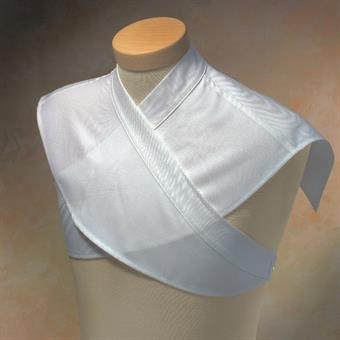 Schultertuch, Wolltrevira, mit angenähten Bändern