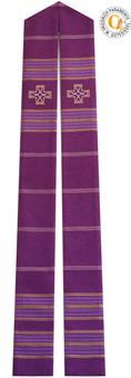 Stola, violett mit Kreuz