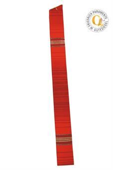 Langstola, rot mit Streifen