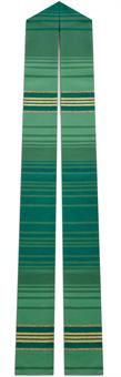 Langstola, grün mit Streifen
