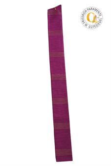 Langstola, violett mit Streifen