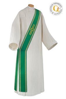 Diakonstola, grün, Wolltrevira