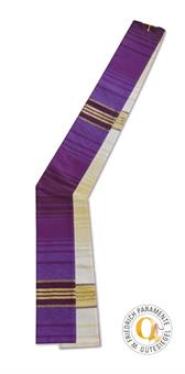 Diakon-Doppelstola, violett/weiß