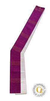 Diakon-Doppelstola, violett/ weiß