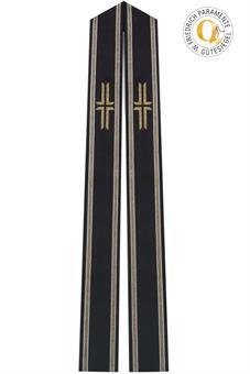 Langstola, schwarz mit Kreuz