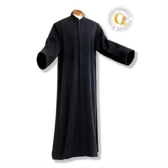 Priester-/Mesnertalar, Wolltrevira mit Arm und Knopfleiste Wolltrevira, crémefarben   Knopfleiste   145 cm