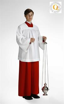 Ministranten-Chorhemd, Polyester mit gezogenen Falten 100 cm