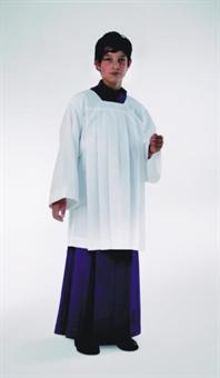 Ministrantenrock, violett, Kunstfaser (Polyester) in Gabardine-Webung 85 cm