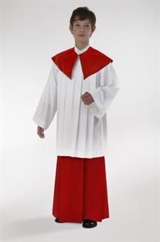 Ministrantenrock, rot, Wolltrevira 110 cm