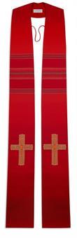 Stola, rot mit Kreuz