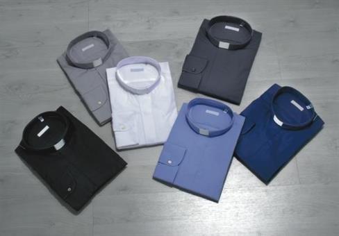 Langarm , Collarhemd, Fil-à-Fil-Qualität,