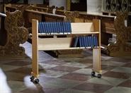 Gesangbuchwagen massiv Buche