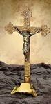 Altarkreuz Messing poliert
