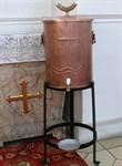 """Weihwasserbehälter """"Fisch"""", Kupfer, 30 Liter"""