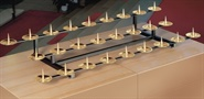 Kommunionkerzen-Aufsatz f. 17 Kerzen