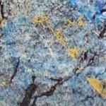 Verzierwachsplatte, gold-blau-schwarz-grau