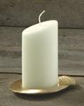 Ovalkerze, elfenbein 120/65 mm
