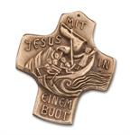 """Bronzekreuz """"Mit Jesus in einem Boot"""