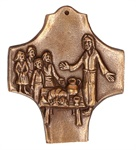 """Bronzekreuz """"Jesus, wo wohnst du ?"""""""