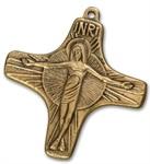 """Bronzekreuz """"INRI"""""""