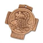 """Bronzekreuz """"Fisch Ähre Rebe"""""""