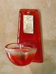 Glas-Weihwasserkessel, Höhe 10 cm