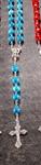 Rosenkranz aus Achat, blau