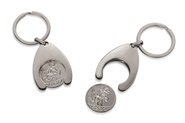 """Schlüsselanhänger mit Einkaufsclip """"Christopherus"""""""