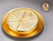 Versehpatene, Messing vergoldet, Durchmesser ca. 11,5 cm