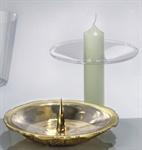 Tropfschale f. Kerzen bis 3,5 cm Durchmesser