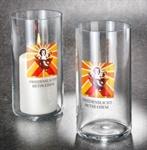 Ewiglichtglas mit Friedenslichtsymbol