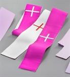 Versehstola, reine Seide, violett/weiß