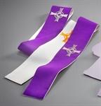 Versehstola, Wollmischgewebe, violett/weiß
