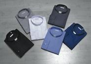 Collarhemd, Baumwolle Langarm weiß | Größe 41