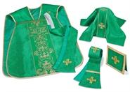 Römische Kasel Set, grün