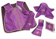 Römische Kasel Set, violett