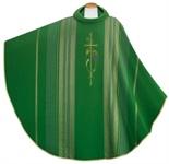 """Kasel """"Kreuz mit Ähren und Reben"""", grün"""