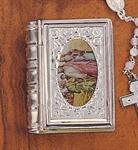 Etui für Rosenkranz in Buchform