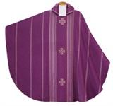 Kasel mit Innenstola, Wolltrevira, violett